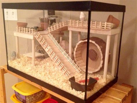 Handmade Cage - hamster cage diy aquarium conversion hamster