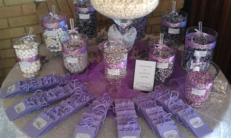 purple silver candy buffet our wedding candy buffets