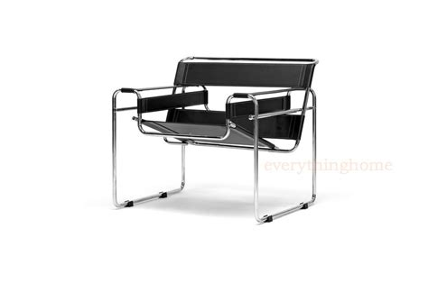 black leather look chrome metal modern accent chair new black leather modern wassily chrome steel accent