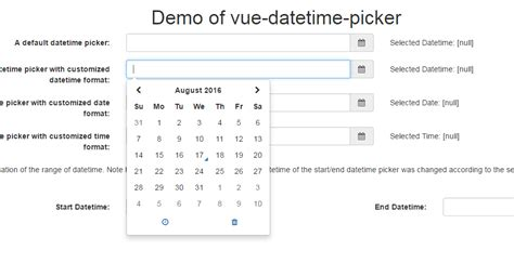 format date vue js a vue js component implementing the datetime picker