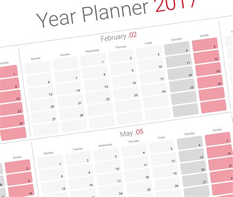 daily planner 2018 yearly wall planner agenda template