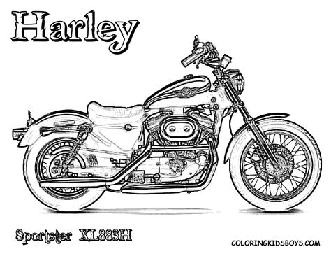 motorcycle coloring pages easy macho harley davidson coloring harley davidson
