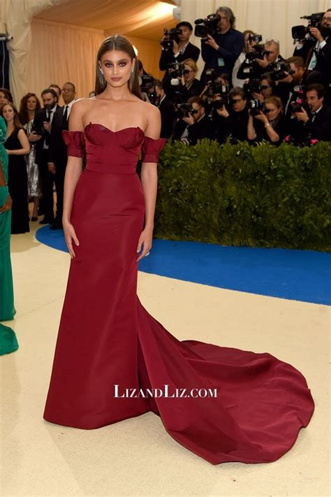 Taylor Hill Burgundy Off the shoulder Formal Prom