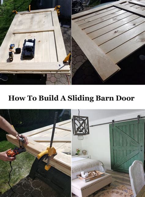 How To Make A Barn Door How To Build A Sliding Barn Door For Less The Honeycomb Home