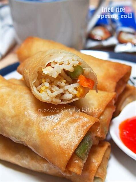 lumpia isi nasi goreng monics simply kitchen