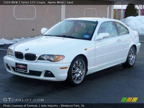 2004 bmw 325i interior alpine white 2004 bmw 3 series 325i coupe sand