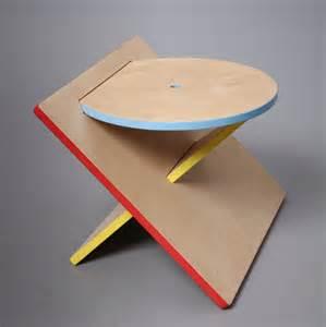 projet 233 tudiant bauhaus stool tabouret design carr 233 rond triangle catherine lee blog