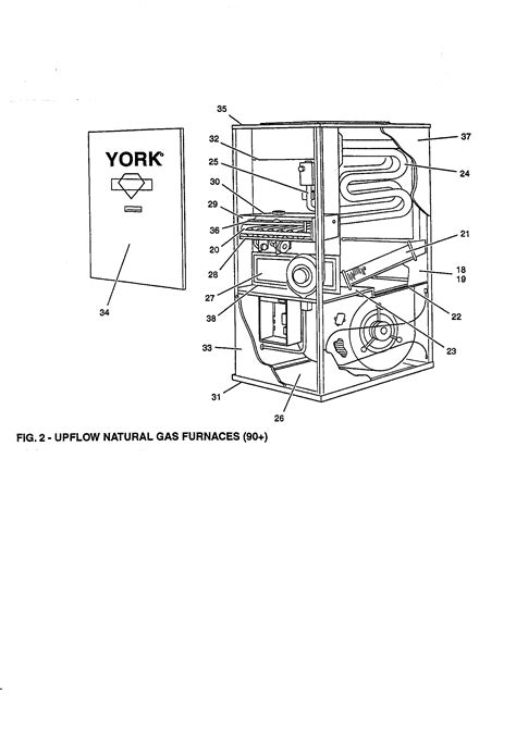 york furnace parts diagram york gas furnace upflow fig 3 parts model