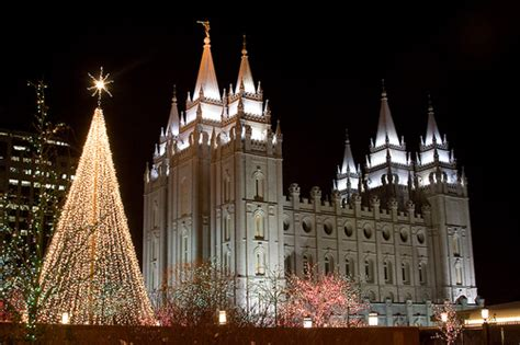 salt lake temple w christmas lights flickr photo sharing
