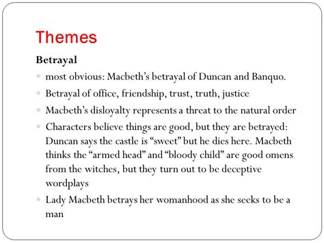 themes of deception in macbeth macbeth ppt download