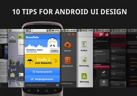 design expert for android 10 tips for android ui design