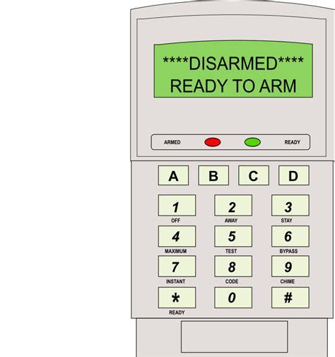 Microsoft Word Login Clipart Alarm Keypad