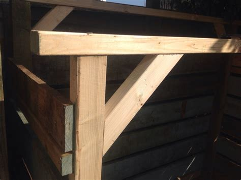 Wood Corner Support Make A Log Store From Pallets A Do It Properly Garden