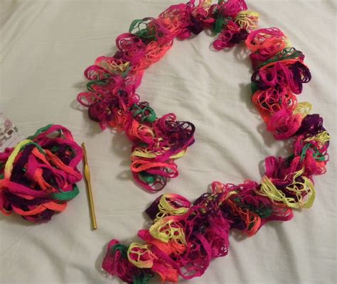 easy ruffle yarn scarf hobbies on a budget