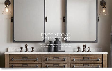 restoration hardware bathroom mirrors pivot mirrors rh