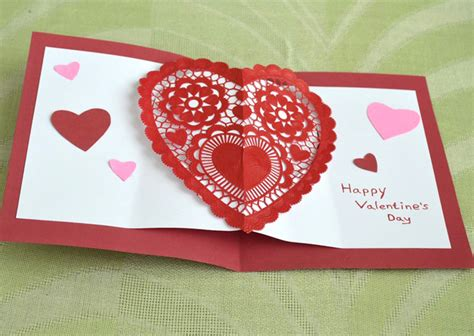 how to make valentines day cards pop up s day card craft