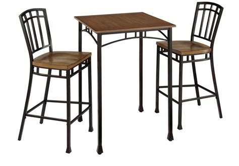 Rustic Bistro Table And Chairs by 3 Bistro Set Kitchen Chair Table Modern Industrial