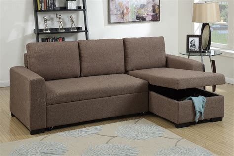 light coffee fabric storage chaise sectional sofa