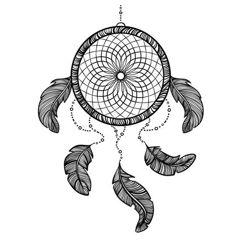 dreamcatcher tattoo black and white temporary tattoos premium quality dreamcatcher