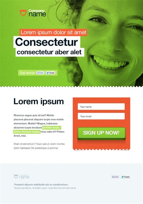opt in page template opt in page templates by getresponse