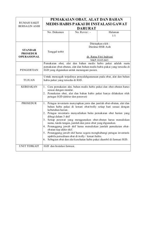 layout gudang farmasi rumah sakit standar operasional prosedur dan diagram alir pemeriksaan