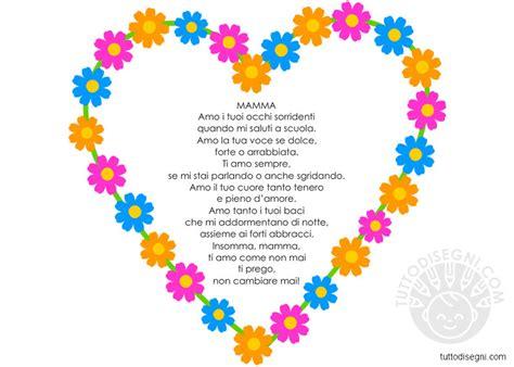 poesia fiori cuore di fiori con poesia per la festa della mamma