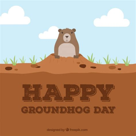groundhog day free happy groundhog day free vector 123freevectors