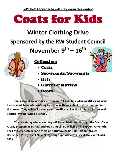 coats for kids winter clothing drive coming november 9 16
