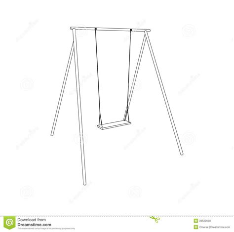 how to draw swing swing stock vector image 39520698