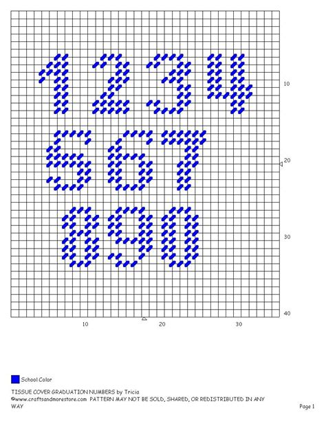 make a pattern with numbers numbers for grad tc my plastic canvas pinterest
