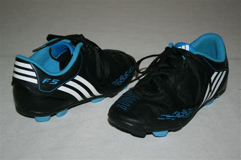 free shipping adidas youth size 2 5 black white teal soccer cleats shoes ebay