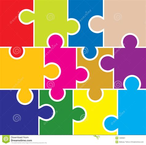 Puzzle Design Elements Vector | puzzle background elements for design vector stock image