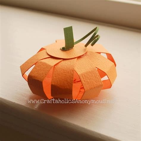 Paper Pumpkin Crafts For - be different act normal paper pumpkin craft