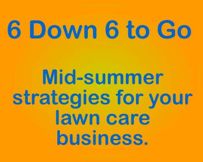 Summer Care 6 Useful Strategies by 6 6 To Go Lawn Care Business In The Second 1 2 Of