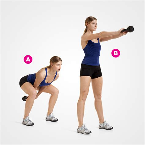 kettlebell or dumbbell swing fire up your metabolism with these 4 minute workouts