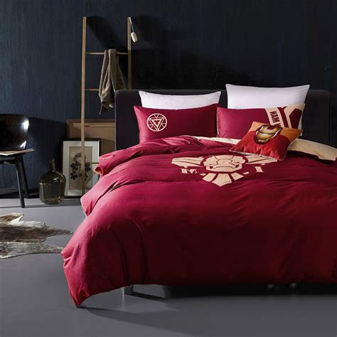 iron man bedding queen set superhero comforter set