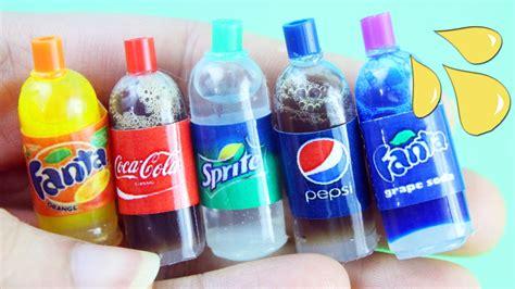 Yasma Fanta how to make a miniature soda cola bottle