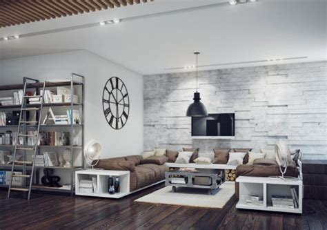 industrie style apartments charming industrial style living room design