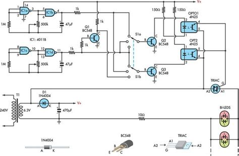 bi colour led running lights circuit diagram world using ac for led christmas lights circuit diagram world