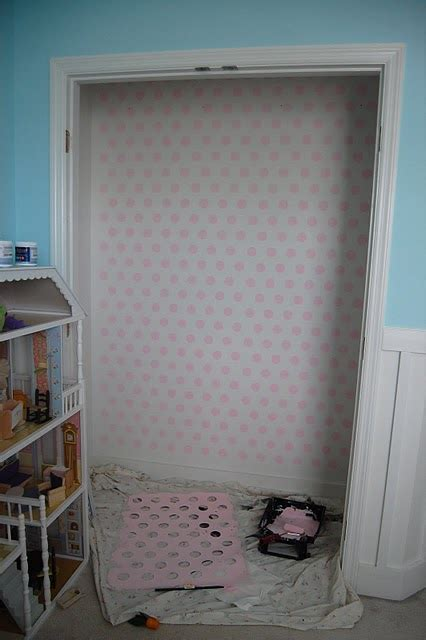 Closet Painting Ideas polka dot painting ideas for the nursery closet