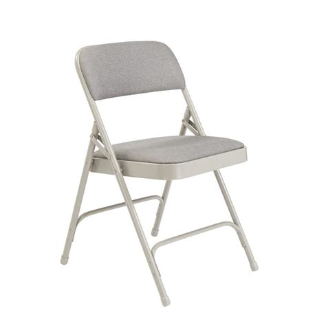 shop national public seating  pack indoor steel grey banquet folding chairs  lowescom