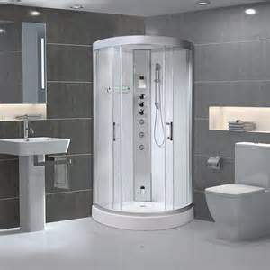 Steam Shower Bath Cabin Milano Alto 80 Quadrant Steam Shower Cabin 800x800mm Polar