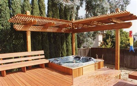 spa pergola ideas beautiful outdoor tub options for your landscaping ideas landscaping gardening ideas