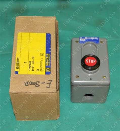 square d 9001bw151 stop button station enclosur