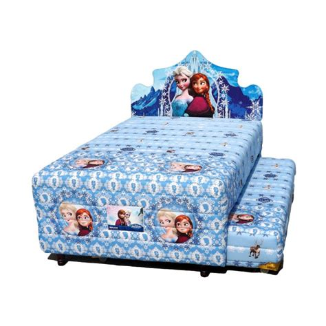 jual bigland 2 in 1 frozen biru set bed 120 x 200