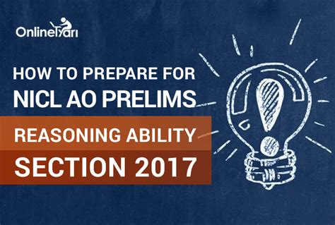 how to prepare for c section how to prepare for nicl ao prelims reasoning ability