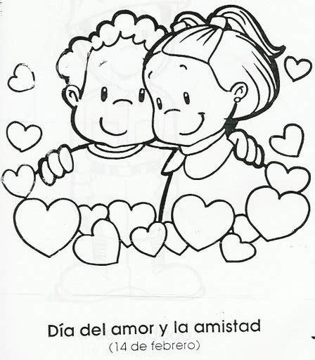 imagenes de amor y amistad infantiles para colorear dibujos para colorear del d 237 a del amor y la amistad