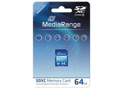 Memory Card V 64gb Sd Card Hyper Series Class10 Sdxc 98mbps 64gb sdxc class 10 memory card mr964 by mediarange digitalpromo