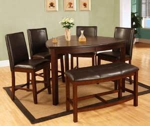 triangle dining set with benches 6 pcs dining set triangular table leatherette chairs