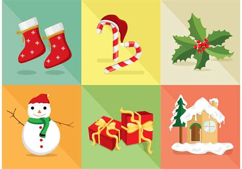 christmas icon vector set   vector art stock graphics images